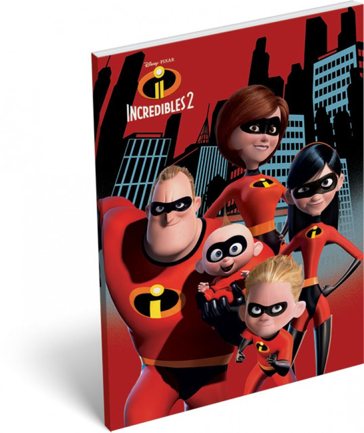 Notesz papírfedeles A/7, The Incredibles 2, Family