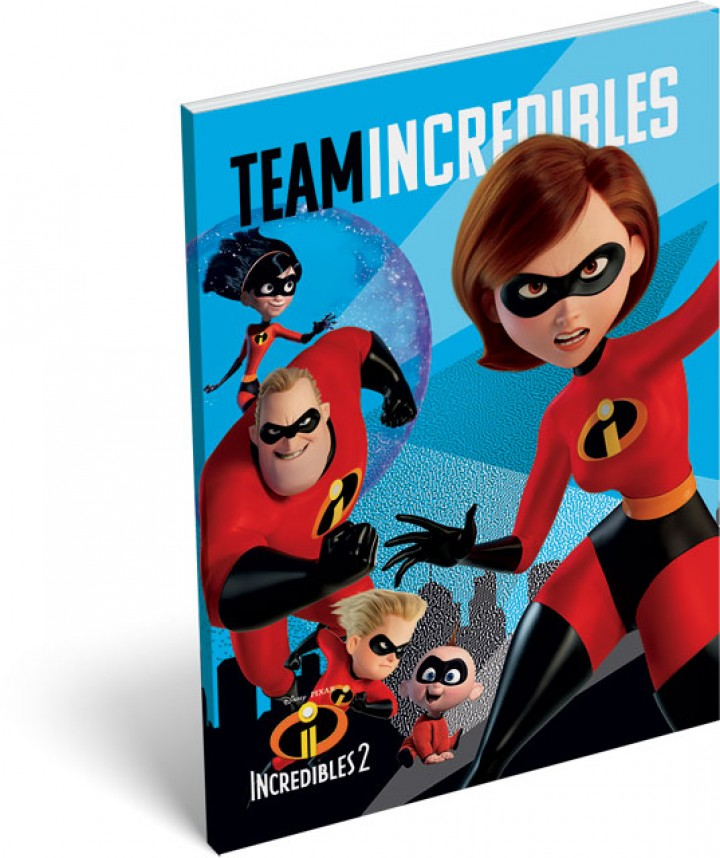 Notesz papírfedeles A/7, The Incredibles 2, Team