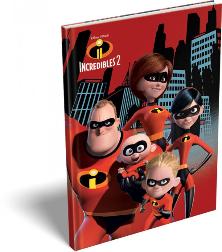 Notesz keményfedeles A/5, The Incredibles 2, Family