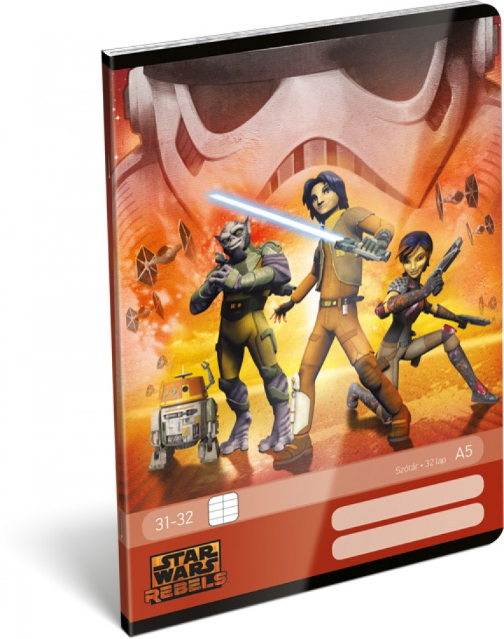 Tűzött szótárfüzet A5, Star Wars Rebels, Orange