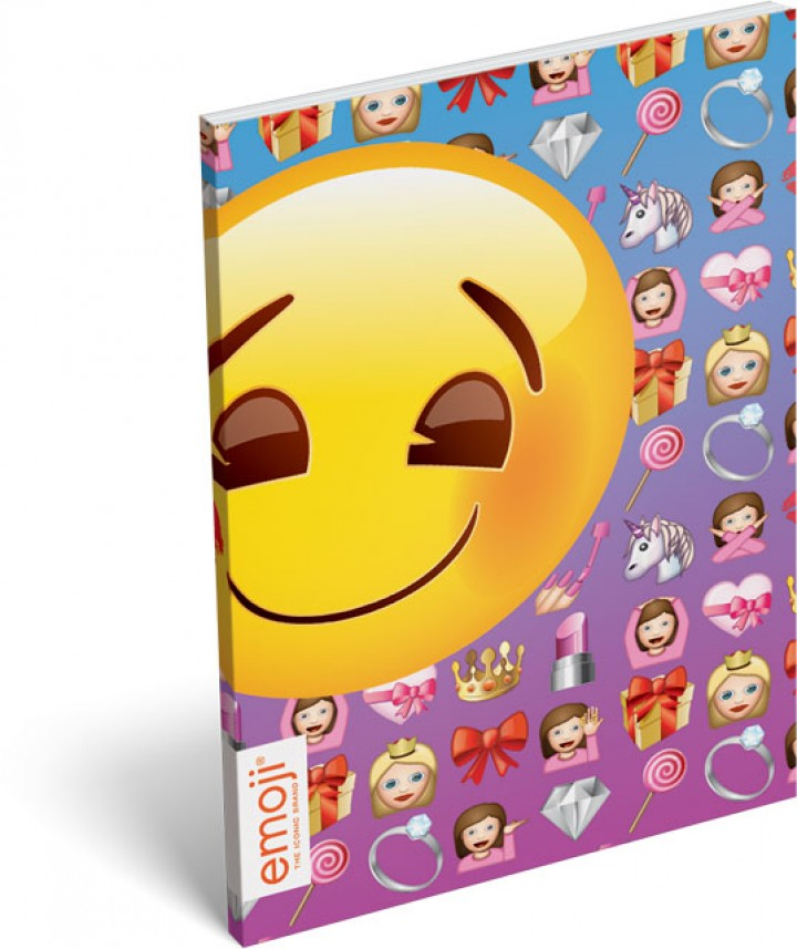 Papírfedeles notesz A6, Emoji, Girls
