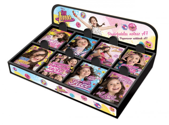 Papírfedeles notesz A7 display, Soy Luna, Mix