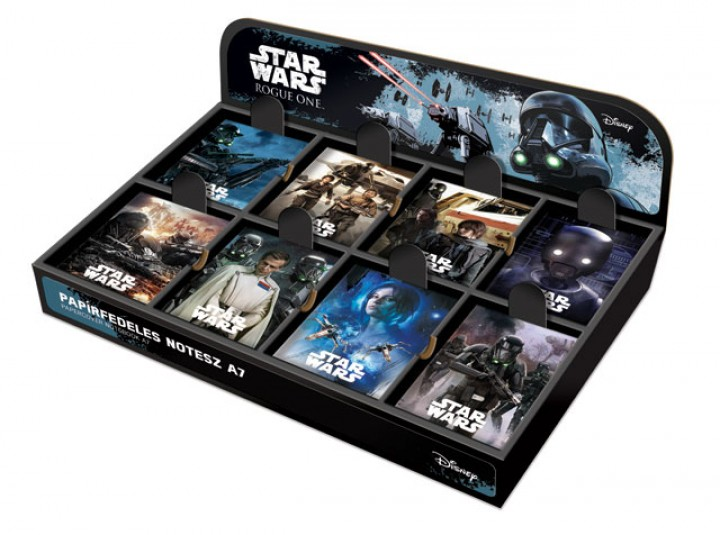 Papírfedeles notesz A7 display, Star Wars Rogue One, Mix