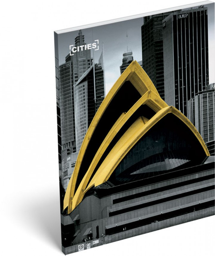 Notesz papírfedeles A/7, Cities, Australia