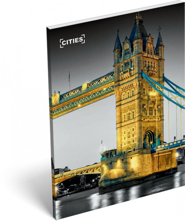 Notesz papírfedeles A/7, Cities, London