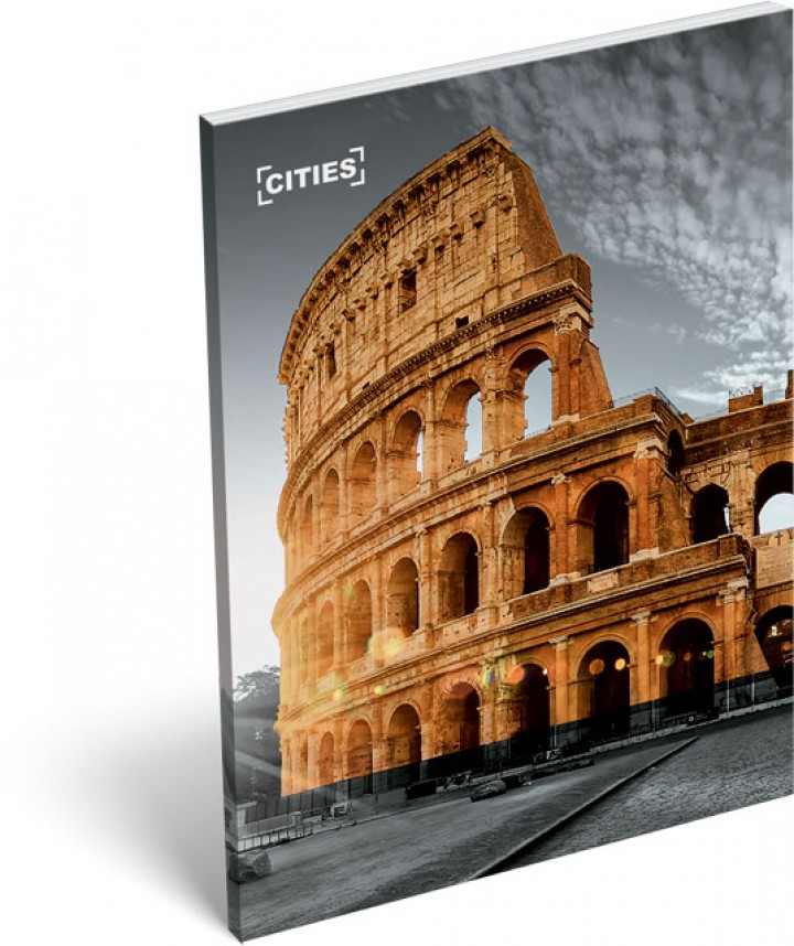 Notesz papírfedeles A/7, Cities, Rome