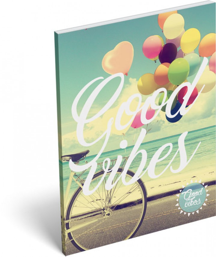 Notesz papírfedeles A/7, Good Vibes, Balloon