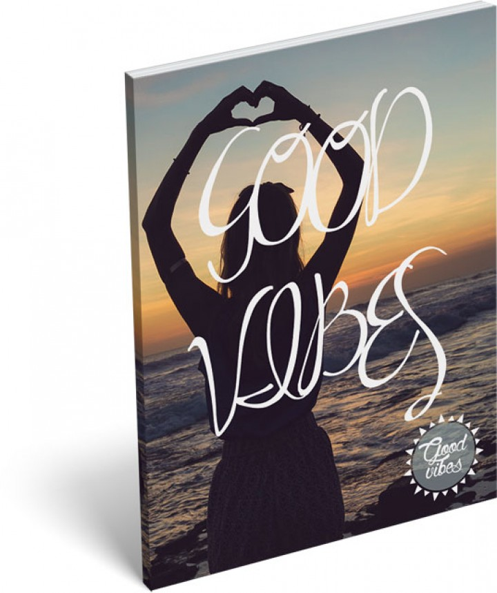 Notesz papírfedeles A/7, Good Vibes, Sunset
