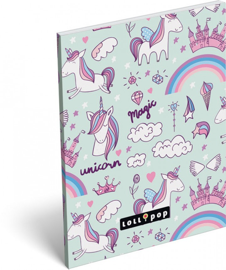 Notesz papírfedeles A/7, Lollipop, Magic