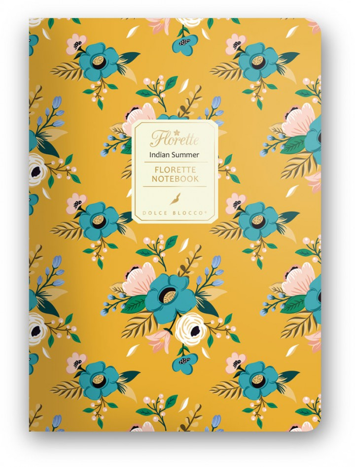 Florette Notebook A5, Dolce Blocco, Indian Summer