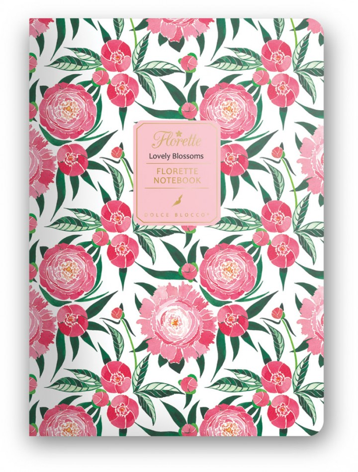 Florette Notebook A5, Dolce Blocco, Lovely Blossoms