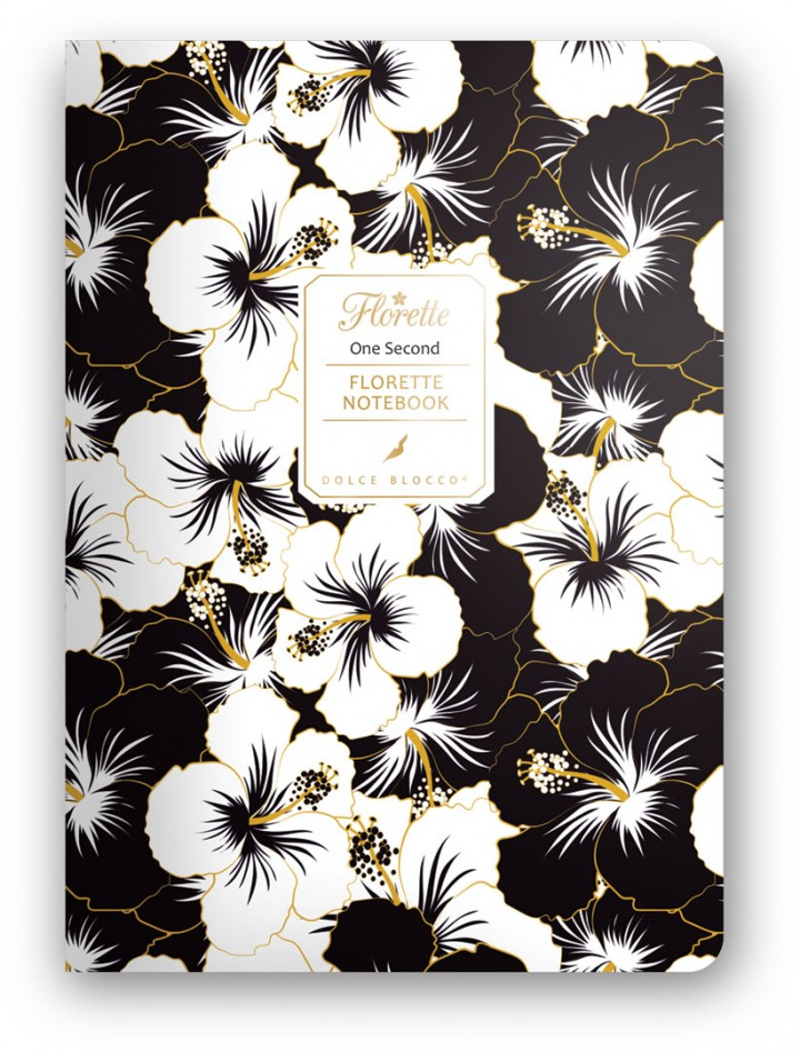 Florette Notebook A5, Dolce Blocco, One Second