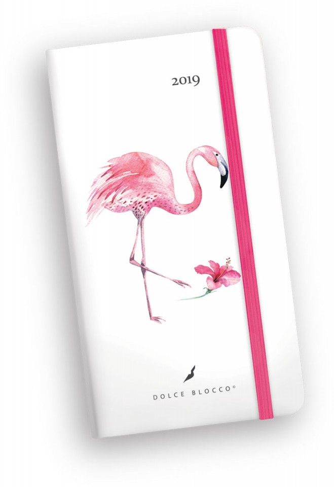 Secret Pocket Planner, Dolce Blocco, Fancy Flamingo