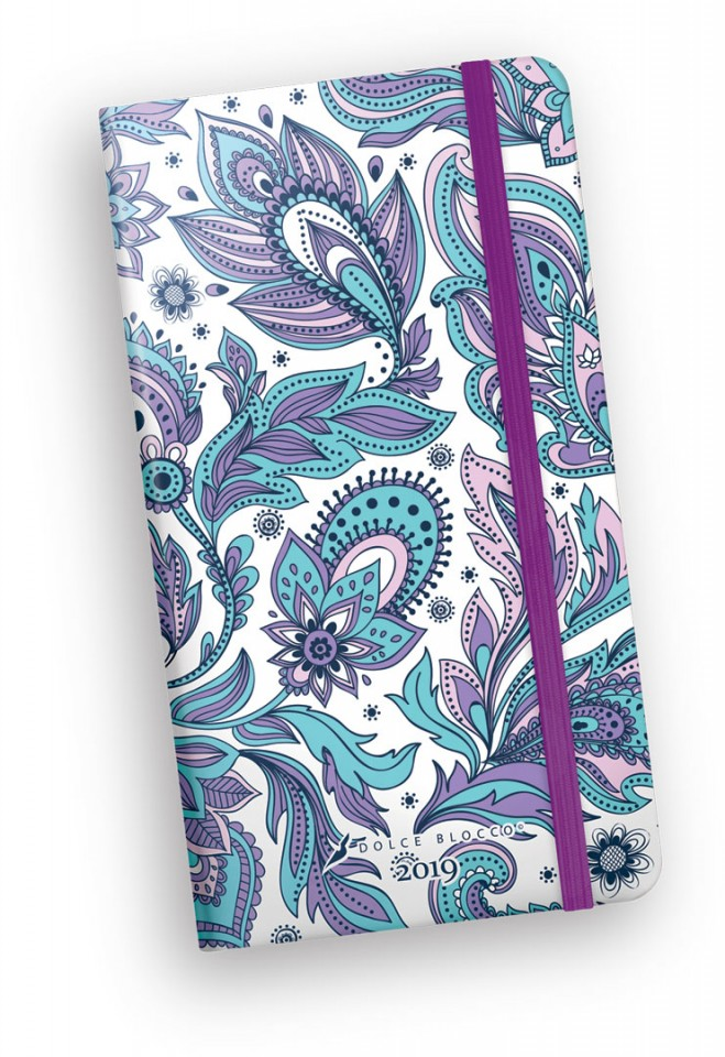 Secret Pocket Planner, Dolce Blocco, Violet Flames